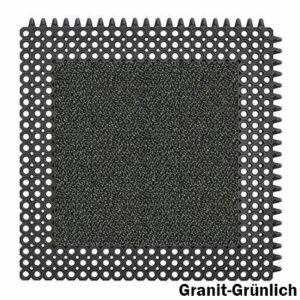 Master Flex Kleinwaben Gummiplatte mit Schmutzfanginlay Swisslon Classic XT in Granit-Grünlich