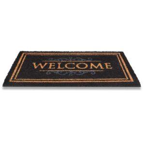 kokosmatte classic welcome schwarz