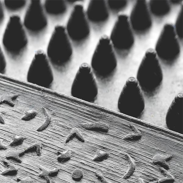 Gummimatte kleine Noppen halbrund details