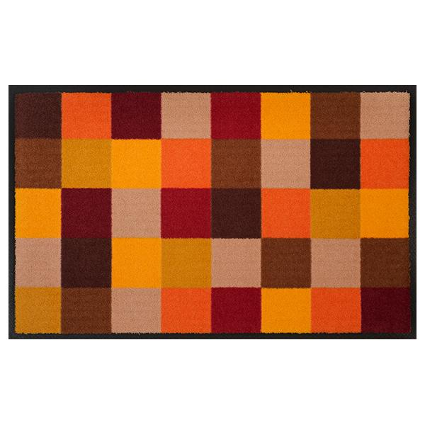 Farbige Karos - rote orangene Farben