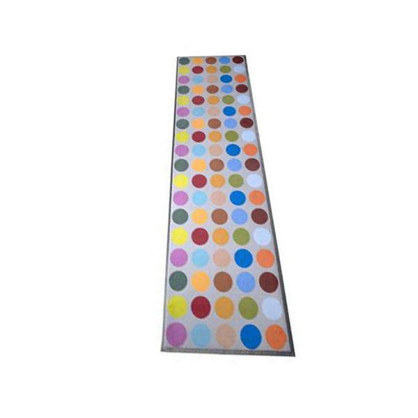 hochwertige Schmutzmatte - farbige Punkte