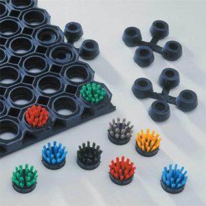 Ringgummimatte Verbinder und Bürsteneinsätze