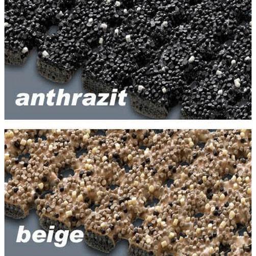 Antirutsch-Sicherheitsmatte Farben anthrazit und braun