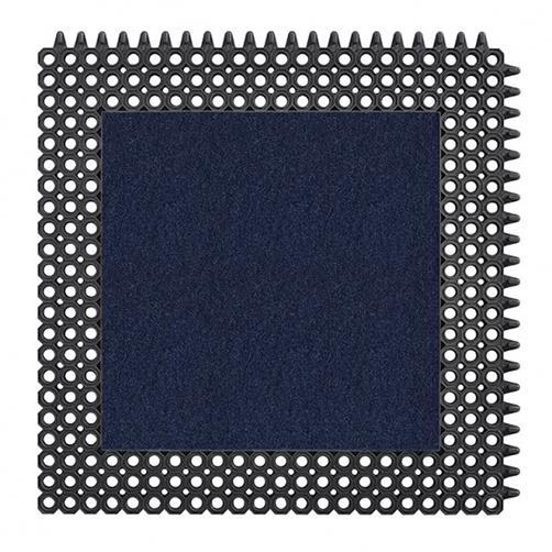 Kleinwaben Gummiplatte mit Schmutzfangfläche in Blau