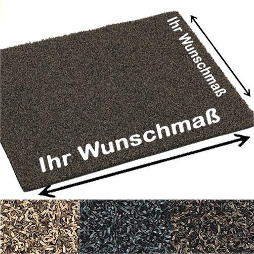 Schmutzfangmatte aus PVC-Bürsten für extrem hohe Sauberlaufwirkung