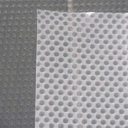 haftende Rückschicht - transparente Folienmatte