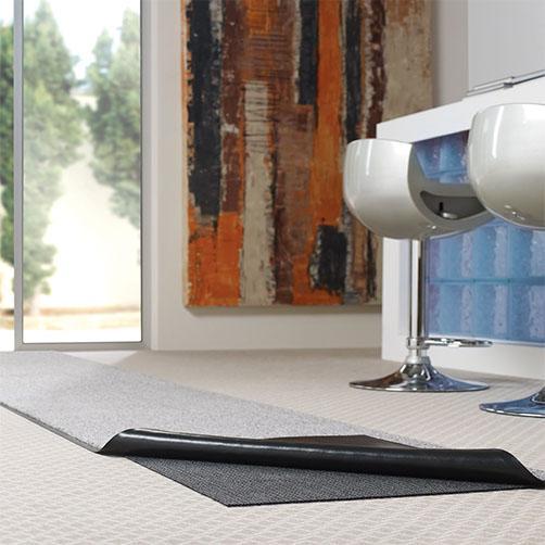 Sicherung von Schmutzfangmattenrücken auf textilen Böden