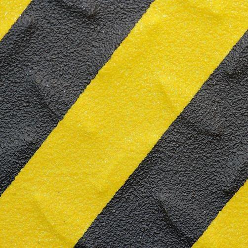 Antirutschband R13 Schwarz Gelb Detailansicht