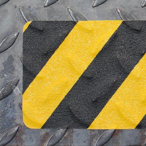 Antirutschband R13 Schwarz-Gelb